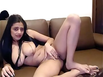 Beautiful Indian Pakistani Babe Shows big tits on webcam show