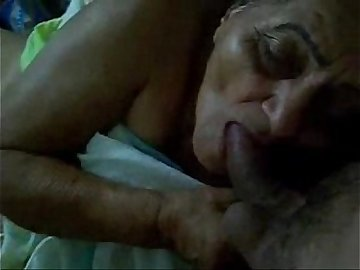 desi Old maid sucking my cock for extra money